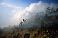 Forest fire, Gunung Rinjani, Lombok, Indonesia, 2002