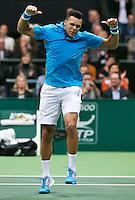 10-02-14, Netherlands,Rotterdam,Ahoy, ABNAMROWTT, Jo-Wilfried Tsonga(FRA)<br /> Photo:Tennisimages/Henk Koster