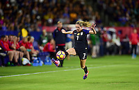 Carson, CA - November 13, 2016: The U.S. Women's National team take a 1-0 lead over Romania in an international friendly game at StubHub Center.