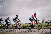 Moreno Hofland (NED/Lotto-Soudal) over the cobbles<br /> <br /> Driedaagse Brugge-De Panne 2018<br /> Bruges - De Panne (202km)
