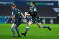 Shaun Venter of Ospreys in action during the Heineken Champions Cup Round 5 match between the Ospreys and Saracens at the Liberty Stadium in Swansea, Wales, UK. Saturday January 11 2020.