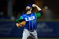 Lexington Legends relief pitcher Daniel Gibson (17) in action against the High Point Rockers at Truist Point on June 16, 2021, in High Point, North Carolina. The Legends defeated the Rockers 2-1. (Brian Westerholt/Four Seam Images)