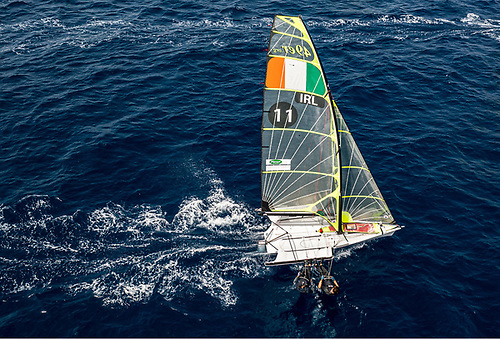Ryan Seaton and Seafra Guilfoyle lie in 10th place Photo: Sailing Energy