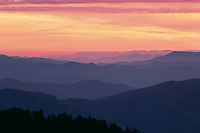 Noland Divide and Thomas Ridge<br />   from Clingman's Dome<br /> Great Smoky Mountains National Park<br /> North Carolina