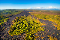 An aerial view of the Kilauea lava flow that began on June 27, 2014, in Pahoa, Big Island. This image was taken in November 2014.