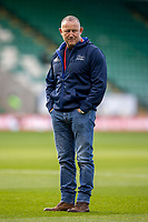 29th September 2020; Franklin Gardens, Northampton, East Midlands, England; Premiership Rugby Union, Northampton Saints versus Sale Sharks; Sale Sharks Director of Rugby Steve Diamond watches the warmup