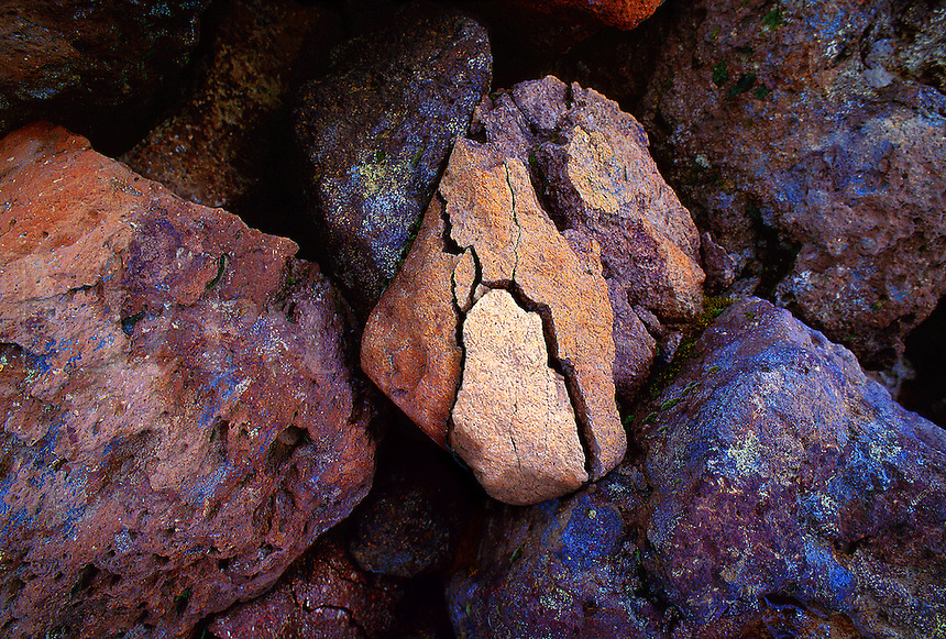 Multicolored rocks. Colorado, San Juan National Wilderness Area.