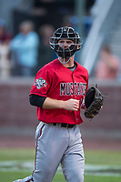 Billings Mustangs designated hitter Jay Schuyler (36) during a Pioneer League game against the Idaho Falls Chukars at Melaleuca Field on August 22, 2018 in Idaho Falls, Idaho. The Idaho Falls Chukars defeated the Billings Mustangs by a score of 5-3. (Zachary Lucy/Four Seam Images)