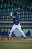 AZL Cubs left fielder Grant Fennell (19) at bat during an Arizona League game against the AZL Brewers at Sloan Park on June 29, 2018 in Mesa, Arizona. The AZL Cubs 1 defeated the AZL Brewers 7-1. (Zachary Lucy/Four Seam Images)
