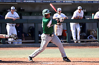 CARY, NC - FEBRUARY 23: Dimaggio Cazares #30 of Wagner College hits the ball during a game between Wagner and Penn State at Coleman Field at USA Baseball National Training Complex on February 23, 2020 in Cary, North Carolina.