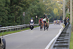 The breakaway group forms after 10km featuring Thomas De Gendt (BEL) Lotto-Soudal, Krists Neilands (LAT) Israel Cycling Academy, Umberto Orsini (ITA) Bardiani-CSF and Willem Smit (RSA) Katusha Alpecin during the 99th edition of Milan-Turin 2018, running 200km from Magenta Milan to Superga Basilica Turin, Italy. 10th October 2018.<br /> Picture: Eoin Clarke | Cyclefile<br /> <br /> <br /> All photos usage must carry mandatory copyright credit (© Cyclefile | Eoin Clarke)