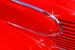 Close up contours of custom car.