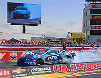 Sep 2, 2017; Clermont, IN, USA; NHRA pro stock driver Alan Prusiensky during qualifying for the US Nationals at Lucas Oil Raceway. Mandatory Credit: Mark J. Rebilas-USA TODAY Sports