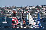Competitors racing during Day 4 of the Extreme Sailing Series Act 8 Final Showdown in Sydney, Australia on 14th December 2014. Photo by Victor Fraile / Power Sport Images