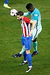 Atletico de Madrid's Yannick Ferreira Carrasco (l) and FC Barcelona's Samuel Umtiti during Spanish Kings Cup semifinal 1st leg match. February 01,2017. (ALTERPHOTOS/Acero)