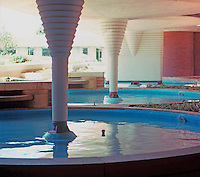 F.L. Wright: Pools--Johnson's Wax.   Photo '77.