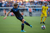 San Jose, CA - Saturday August 03, 2019: Florian Jungwirth #23 in a Major League Soccer (MLS) match between the San Jose Earthquakes and the Columbus Crew at Avaya Stadium.