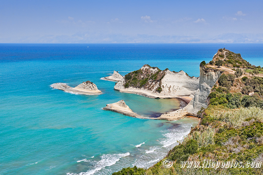 Cape Drastis at Corfu, Greece