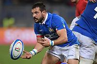 Guglielmo Palazzani Italy<br />  <br /> Roma 9-02-2019 Stadio Olimpico<br /> Rugby Six Nations tournament 2019  <br /> Italy - Wales <br /> Foto Antonietta Baldassarre / Insidefoto