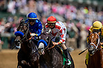 APRIL 30, 2021:  Jose Ortiz  aboard Mayfield and Brother Irad Ortiz on Roadster in the Alysheba Stakes at Churchill Downs in Louisville, Kentucky on April 30, 2021. EversEclipse Sportswire/CSM