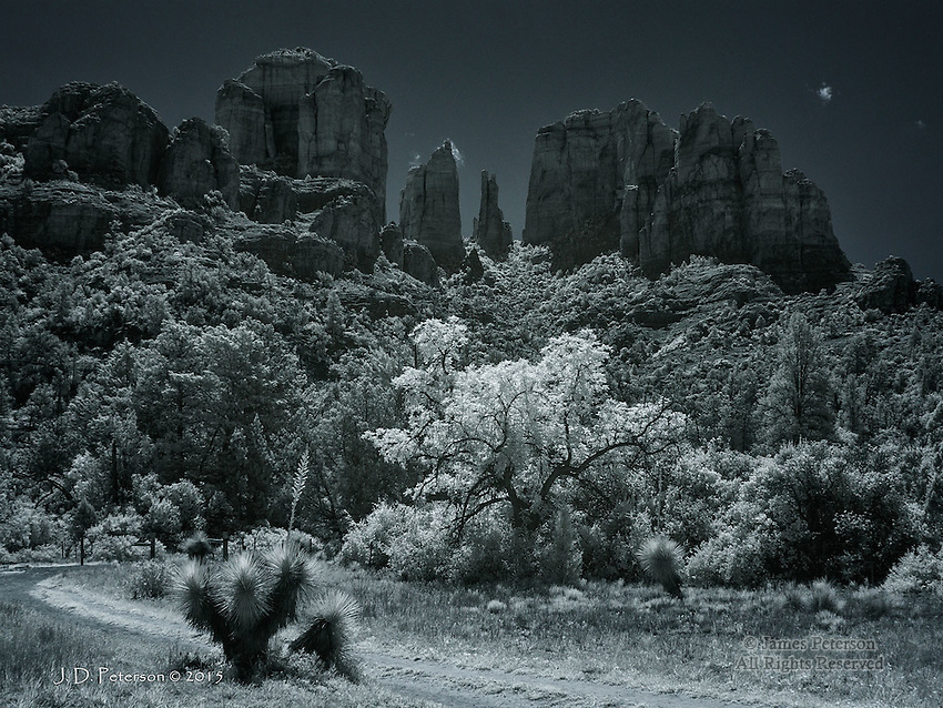 Cathedral Rock from Templeton Trail (Infrared)