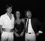 MIGUEL BOSE' CON MARIA RITA VIAGGI ED ALBERTO MAROZZI<br /> SERATA VILLA MIANI ROMA 1979