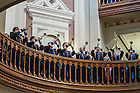 """Oct 11, 2014; """"Trumpets Under the Dome"""" before the North Carolina game. (Photo by Matt Cashore)"""