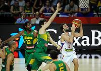 Milos Teodosic SERBIA - BRAZIL BASKETBALL WORLD CUP SPAIN MADRID<br /> wednesday September 10. 2014.