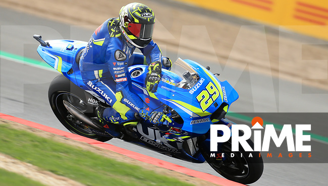 Andrea Iannone (29) of the Team SUZUKI ECSTAR race team during the GoPro British MotoGP at Silverstone Circuit, Towcester, England on 24 August 2018. Photo by Chris Brown / PRiME Media Images
