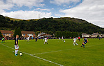 Burntisland Shipyard 0 Colville Park 7, 12/08/2017. The Recreation Ground, Scottish Cup First Preliminary Round. A Burntisland sub watches Colville attack. Photo by Paul Thompson.