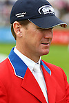 Equestrian - Showjumping - Meydan FEI Nations Cup Mclain Ward (USA) who rides Rothchild in the Meydan FEI Nations Cup at the Royal Dublin Society (RDS) in Dublin.