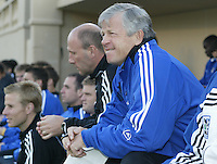 23 April 2005: Wizards' head coach Bob Gansler during the Earthquakes/Wizards' game at Spartan Stadium in San Jose, California.   Earthquakes defeated Wizards, 3-2.  Credit: Michael Pimentel / ISI