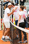 Rafa Nadal, Marat Safin and Simone Halep during the Charity Day of the Mutua Madrid Open at Caja Magica in Madrid. April 29, 2016. (ALTERPHOTOS/Borja B.Hojas)