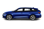 Car Driver side profile view of a 2020 Skoda Octavia-Combi RS 5 Door Wagon Side View