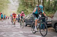 Tanel Kangert (EST/Astana) cooling down up the Côte de la Roche aux Faucons<br /> <br /> 104th Liège - Bastogne - Liège 2018 (1.UWT)<br /> 1 Day Race: Liège - Ans (258km)
