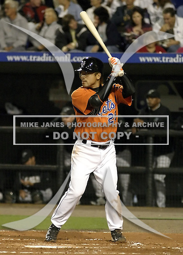 April 2, 2004:  Kaz Matsui of the New York Mets organization during Spring Training at Tradition Field in St. Lucie, FL.  Photo by:  Mike Janes/Four Seam Images