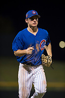AZL Cubs 1 center fielder Dalton Hurd (30) jogs off the field between innings of an Arizona League game against the AZL Reds at Sloan Park on July 13, 2018 in Mesa, Arizona. The AZL Cubs 1 defeated the AZL Reds 4-1. (Zachary Lucy/Four Seam Images)