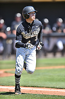 Vanderbilt Commodores right fielder Jeren Kendall (3) rounds the bases after hitting a home run during a game agains against the Tennessee Volunteers at Lindsey Nelson Stadium on April 24, 2016 in Knoxville, Tennessee. The Volunteers defeated the Commodores 5-3. (Tony Farlow/Four Seam Images)