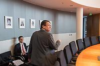 """Sitzung des Ausschuss fuer Recht und Verbraucherschutz des Deutschen Bundestag am Montag den 4. November 2019.<br /> Im Bild: Der Ausschussvorsitzende Stephan Brandner von der rechtspopulistischen """"Alternative fuer Deutschland"""", AfD.<br /> 4.11.2019, Berlin<br /> Copyright: Christian-Ditsch.de<br /> [Inhaltsveraendernde Manipulation des Fotos nur nach ausdruecklicher Genehmigung des Fotografen. Vereinbarungen ueber Abtretung von Persoenlichkeitsrechten/Model Release der abgebildeten Person/Personen liegen nicht vor. NO MODEL RELEASE! Nur fuer Redaktionelle Zwecke. Don't publish without copyright Christian-Ditsch.de, Veroeffentlichung nur mit Fotografennennung, sowie gegen Honorar, MwSt. und Beleg. Konto: I N G - D i B a, IBAN DE58500105175400192269, BIC INGDDEFFXXX, Kontakt: post@christian-ditsch.de<br /> Bei der Bearbeitung der Dateiinformationen darf die Urheberkennzeichnung in den EXIF- und  IPTC-Daten nicht entfernt werden, diese sind in digitalen Medien nach §95c UrhG rechtlich geschuetzt. Der Urhebervermerk wird gemaess §13 UrhG verlangt.]"""