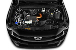 Car Stock 2021 Mazda MX-30 Skycruise 5 Door SUV Engine  high angle detail view