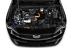 Car Stock 2021 Mazda MX-30 Skycruise 5 Door SUV Engine  high angle detail view