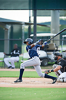 AZL Padres designated hitter Esteury Ruiz (13) at bat against the AZL White Sox on July 31, 2017 at Camelback Ranch in Glendale, Arizona. AZL White Sox defeated the AZL Padres 2-1. (Zachary Lucy/Four Seam Images)