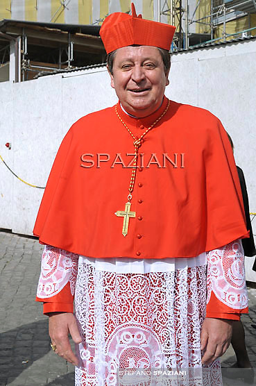 Cardinal Joao Braz de Aviz  , Pope Benedict XVI leads the Consistory where he will appoint 22 new cardinals on February 18, 2012 at St Peter's basilica at the Vatican.