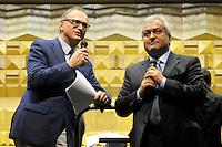 Francesco Florenzano, presidente Upter e Giovanni Anversa.Inaugurazione XXIV anno accademico dell'università popolare di Roma...