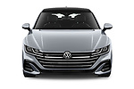 Car photography straight front view of a 2021 Volkswagen Arteon SEL-Premium-R-Line 5 Door Hatchback Front View