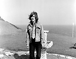 Beatles 1967 George Harrison during filming of the Magical Mystery Tour at the Atlantic Hotel in Newquay.<br /> © Chris Walter