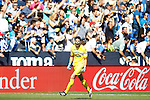 CD Leganes' Jon Ander Serantes celebrates goal during La Liga match. September 25,2016. (ALTERPHOTOS/Acero)