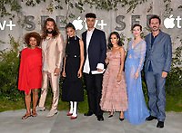 "LOS ANGELES, USA. October 22, 2019: Alfre Woodard, Jason Momoa, Nesta Cooper, Archie Madekwe, Yadira Guevara-Prip, Sylvia Hoeks & Christian Camargo  at the premiere of AppleTV+'s ""SEE"" at the Regency Village Theatre.<br /> Picture: Paul Smith/Featureflash"