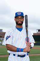 South Bend Cubs outfielder Jonathan Sierra (32) poses for a photo before a Midwest League game against the Cedar Rapids Kernels at Four Winds Field on May 7, 2019 in South Bend, Indiana. (Zachary Lucy/Four Seam Images)