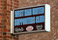 Pictured: West Ham United Supporters' Club. 01 February 2014<br />